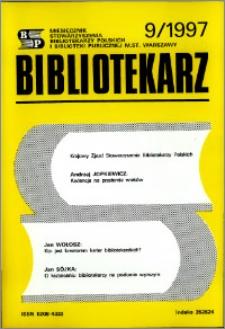Bibliotekarz 1997, nr 9