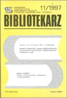 Bibliotekarz 1997, nr 11
