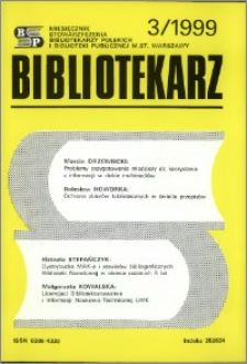 Bibliotekarz 1999, nr 3