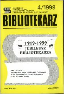Bibliotekarz 1999, nr 4