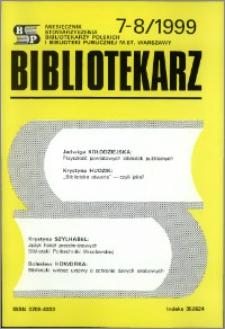 Bibliotekarz 1999, nr 7-8