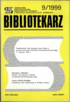 Bibliotekarz 1999, nr 9