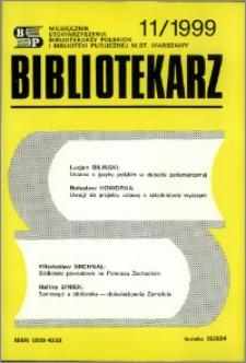 Bibliotekarz 1999, nr 11