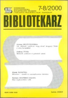 Bibliotekarz 2000, nr 7-8