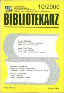 Bibliotekarz 2000, nr 10