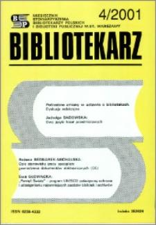 Bibliotekarz 2001, nr 4