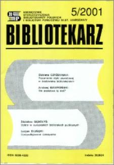 Bibliotekarz 2001, nr 5