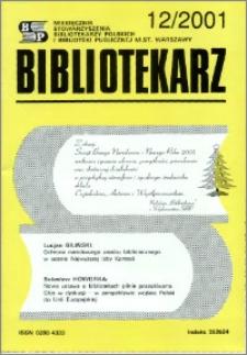 Bibliotekarz 2001, nr 12