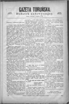 Gazeta Toruńska 1870, R. 4 nr 179 (dodatek nadzwyczajny)