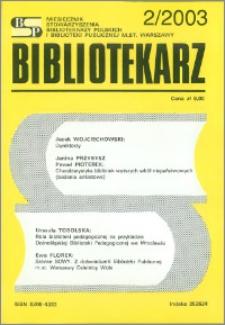 Bibliotekarz 2003, nr 2