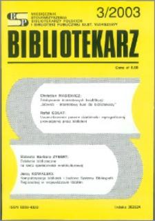 Bibliotekarz 2003, nr 3