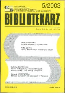 Bibliotekarz 2003, nr 5