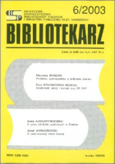 Bibliotekarz 2003, nr 6
