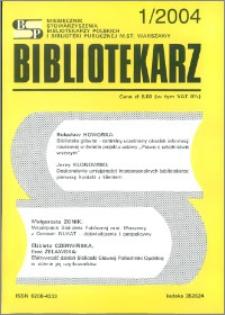 Bibliotekarz 2004, nr 1
