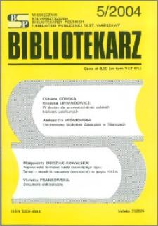 Bibliotekarz 2004, nr 5