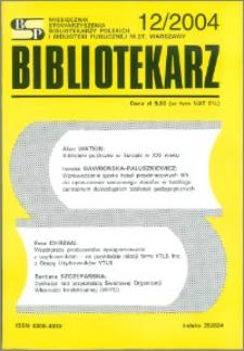 Bibliotekarz 2004, nr 12