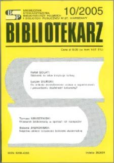 Bibliotekarz 2005, nr 10