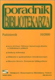 Poradnik Bibliotekarza 2000, nr 10