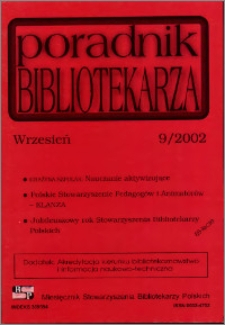 Poradnik Bibliotekarza 2002, nr 9