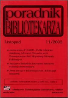Poradnik Bibliotekarza 2002, nr 11