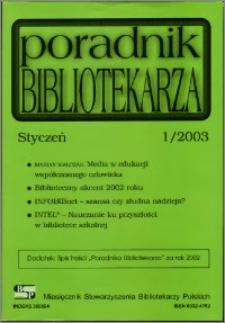 Poradnik Bibliotekarza 2003, nr 1