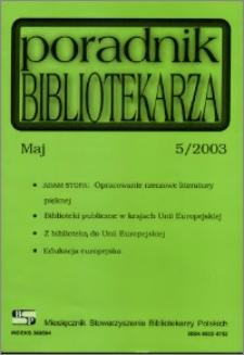 Poradnik Bibliotekarza 2003, nr 5
