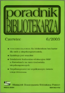 Poradnik Bibliotekarza 2003, nr 6
