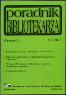 Poradnik Bibliotekarza 2003, nr 9