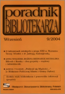 Poradnik Bibliotekarza 2004, nr 9