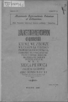 Akta synodów prowincjalnych Jednoty Litewskiej 1611-1625