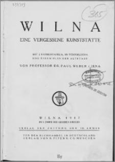 Wilna : eine vergessene Kunststätte