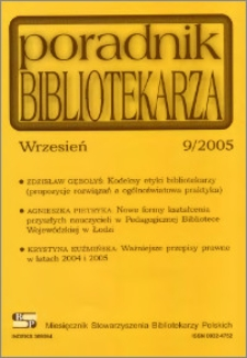 Poradnik Bibliotekarza 2005, nr 9