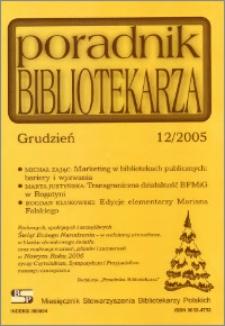Poradnik Bibliotekarza 2005, nr 12