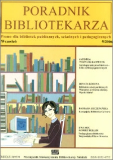 Poradnik Bibliotekarza 2006, nr 9