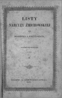 Listy Narcyzy Żmichowskiej do rodziny i przyjaciół opatrzone wstępem. [T.] 2