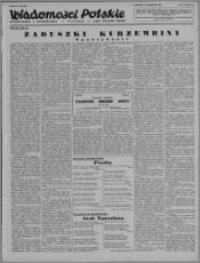 Wiadomości Polskie, Polityczne i Literackie 1943, R. 4 nr 35