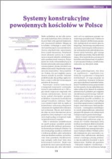 Systemy konstrukcyjne powojennych kościołów w Polsce