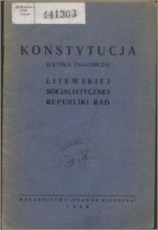 Konstytucja (ustawa zasadnicza) Litewskiej Socjalistycznej Republiki Rad