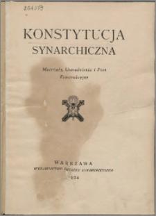 Konstytucja synarchiczna : materjały, uzasadnienia i plan konstrukcyjny.