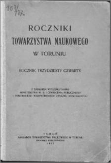 Roczniki Towarzystwa Naukowego w Toruniu, R. 34, (1927)