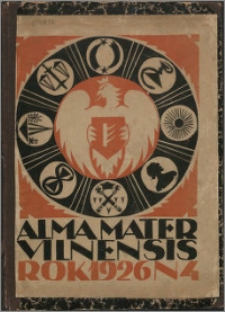 Alma Mater Vilnensis 1926, z. 4