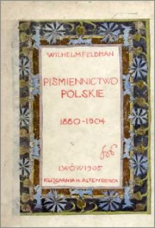 Piśmiennictwo polskie 1880-1904. T. 2
