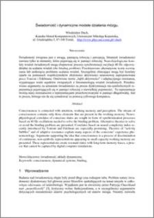 Świadomość i dynamiczne modele działania mózgu