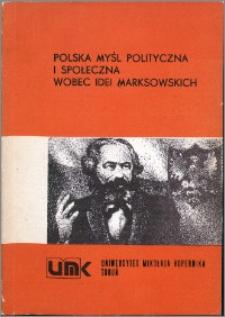 Polnische politische und gesellschaftliche Gedanke Angesichts der Marx'chen Ideen