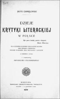Dzieje krytyki literackiej w Polsce