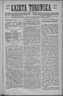 Gazeta Toruńska 1875, R. 9 nr 47