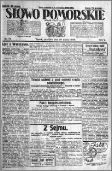 Słowo Pomorskie 1925.03.29 R.5 nr 74