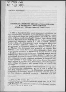 Rzymskokatolickie budownictwo kultowe w twórczości projektowej Józefa P. Dziekońskiego (1844-1927)