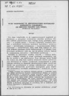 Nurt narodowy w architekturze sakralnej Królestwa Polskiego od drugiej połowy XIX wieku : wybrane problemy