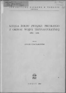 Księga żołdu Związku Pruskiego z okresu wojny trzynastoletniej 1454-1466